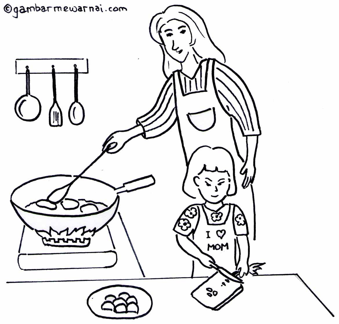 Mewarnai Ibu Kartini Untuk Anak Tk Coloring K