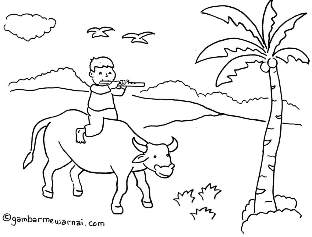 contoh gambar pedesaan untuk anak sd 1