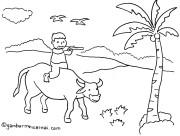 Mewarnai Bunga Dengan Crayon Related Keywords  Mewarnai Bunga Dengan