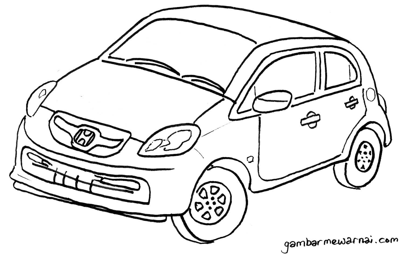 Honda Brio Satya Untuk Mewarnai Contoh Gambar Mewarnai Mobil