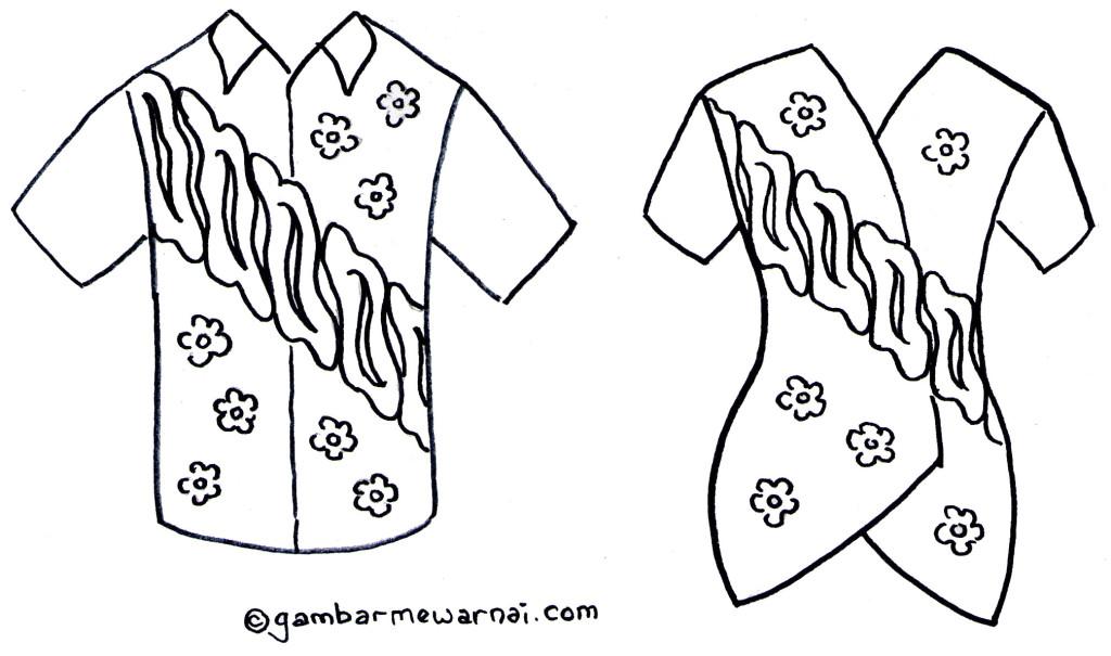 28 Gambar Sketsa Baju Casual