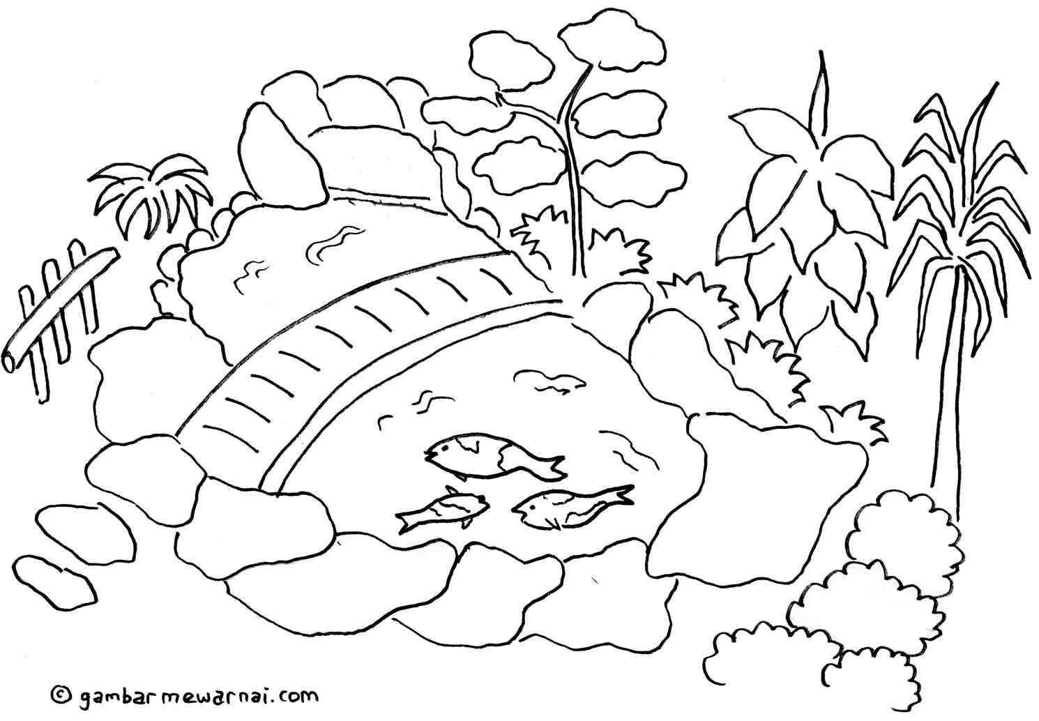 Mewarnai Gambar Taman Bunga The Image