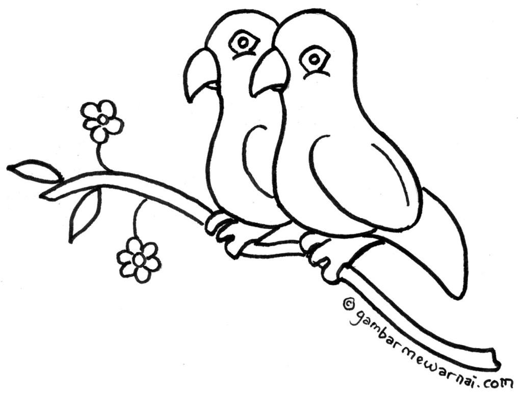 Download image Gambar Mewarnai Binatang Contoh Hewan Burung Merak PC